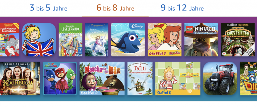 Amazon FreeTime - Apps für Kinder