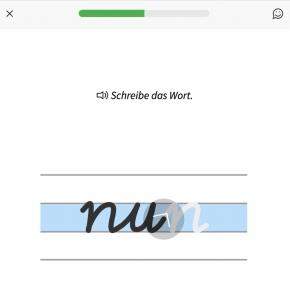 Schreibschrift lernen für Kinder in der Anton-Lern-App