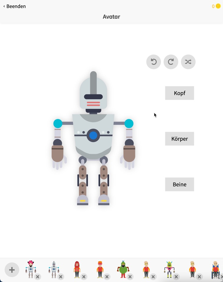 Avatar in Anton-Lern-App