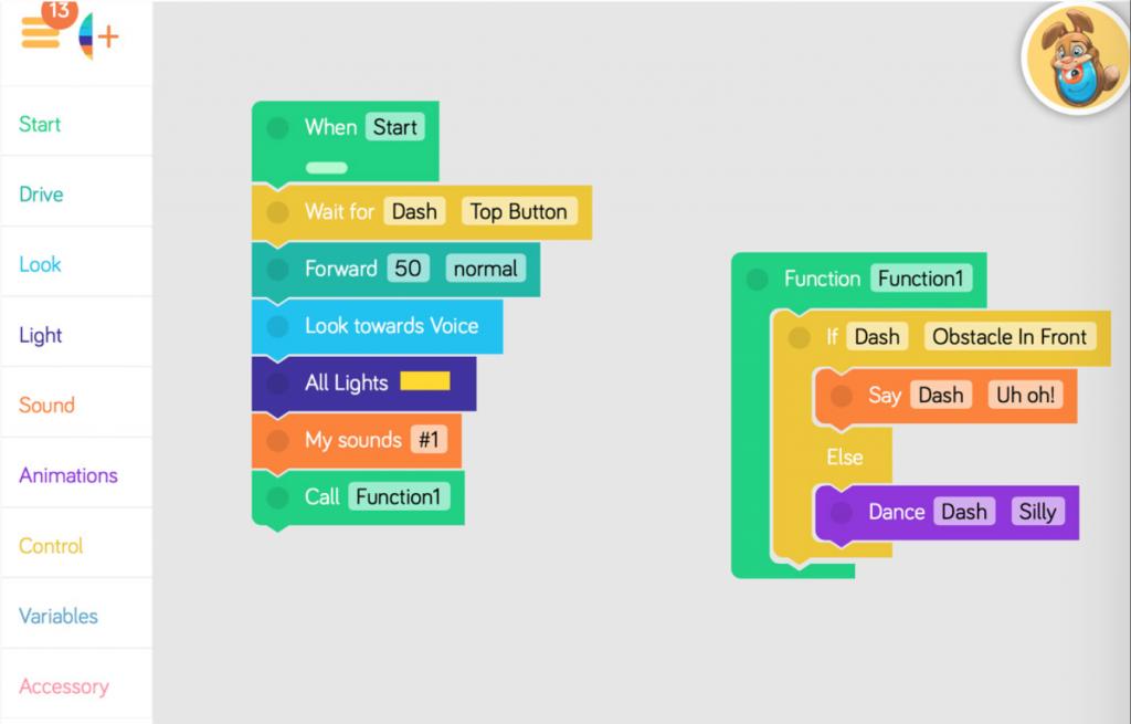 Dot-App - Roboter programmieren lernen mit Blockly
