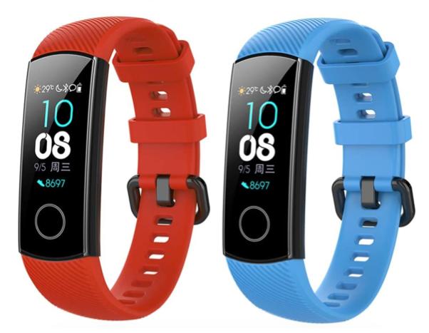 Fitnessarmband - Ersatzarmbänder in rot und blau