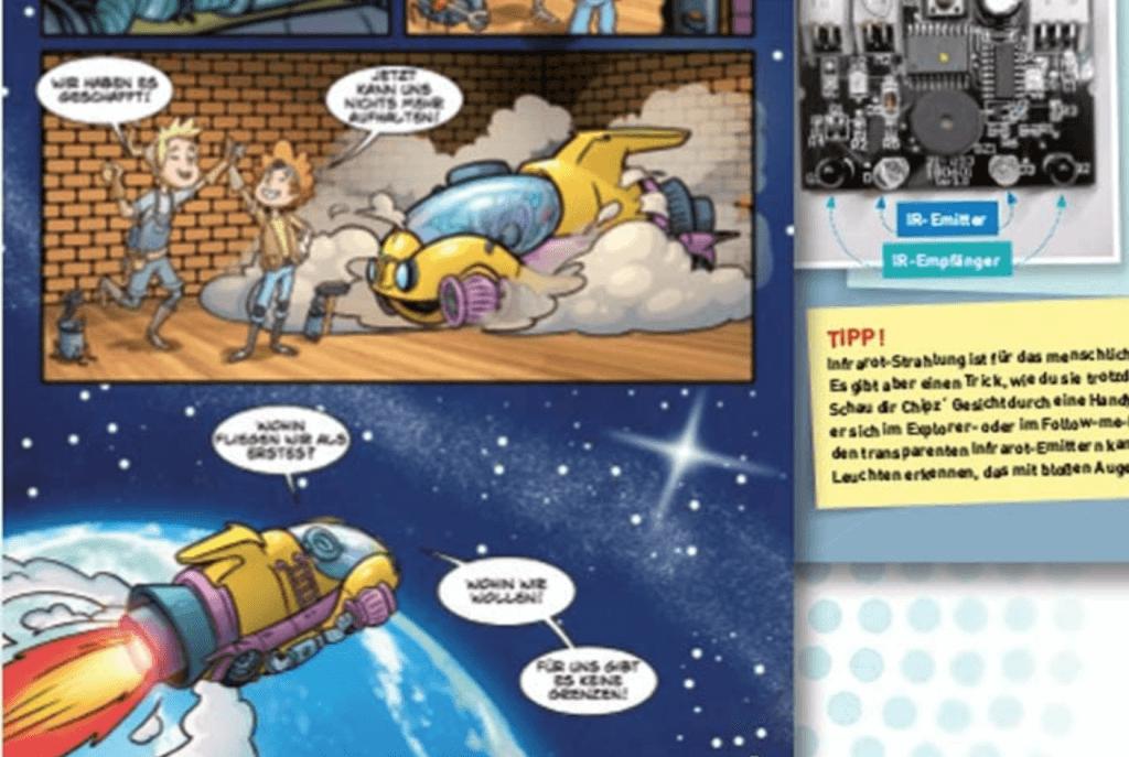Kosmos Chipz Roboter Comic und Erläuterungen