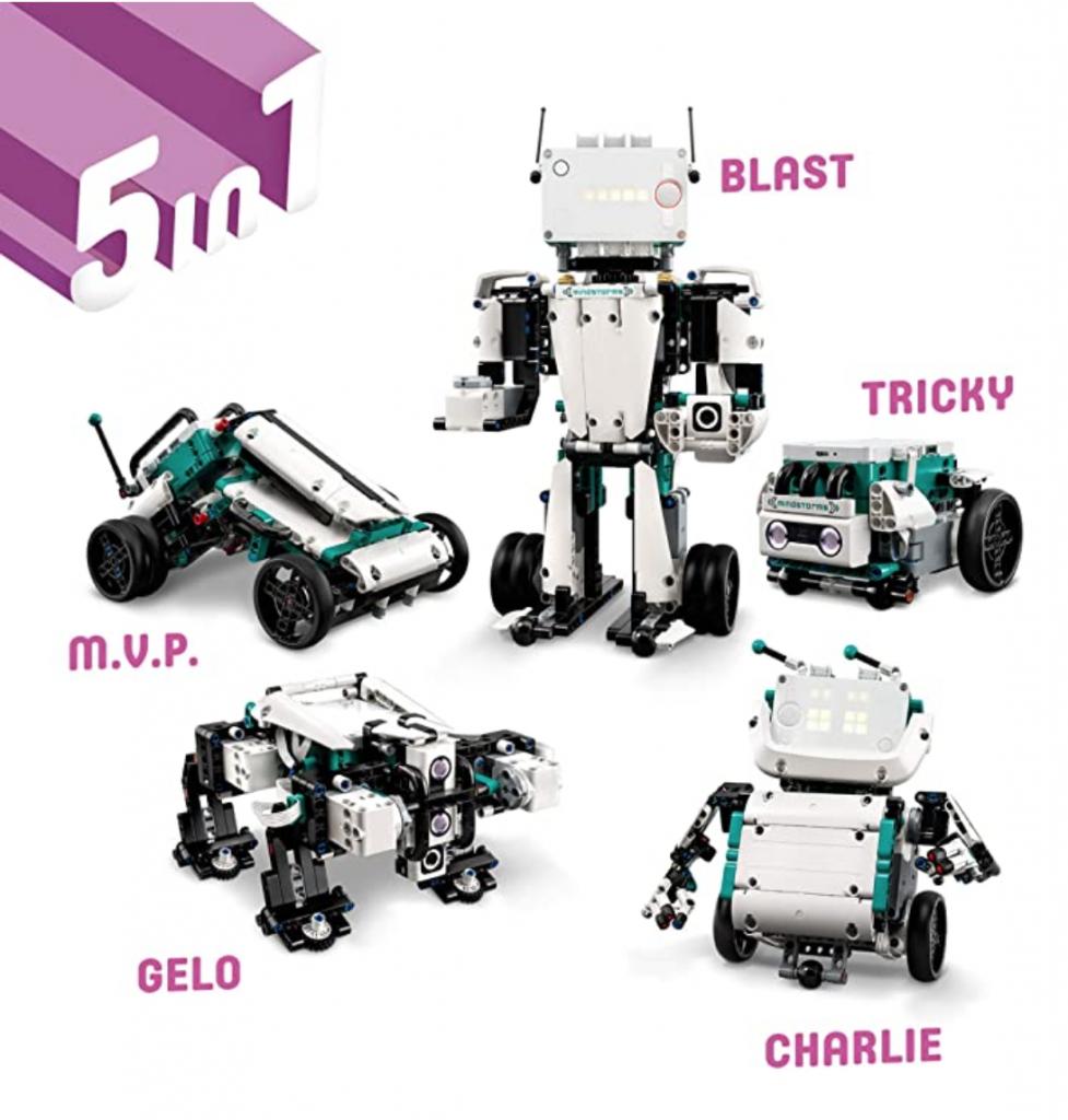 LEGO Mindstorms 51515 bietet 5 Roboter-Bauanleitungen