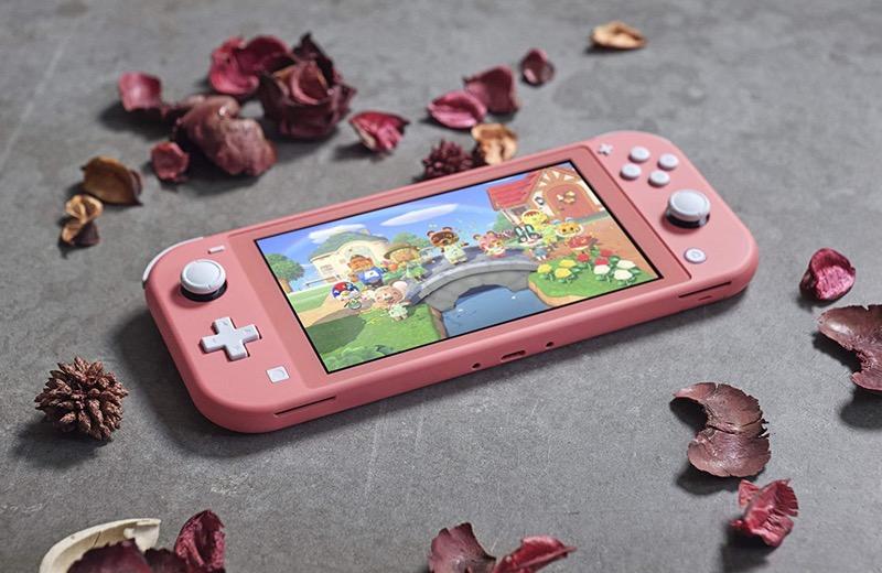 Nintendo-Switch-Lite Spielekonsole für Kinder in koralle