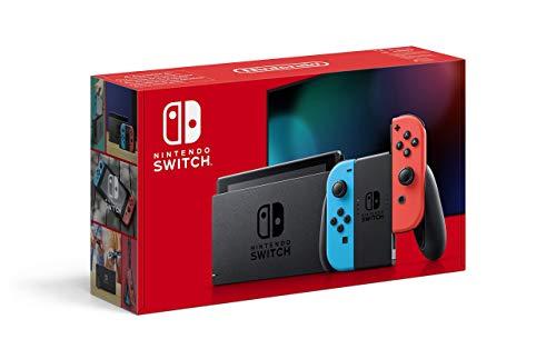 Die aktuelle Version der Nintendo Switch erkennt man an der roten Verpackung